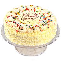 2lbs Classic Vanilla Birthday Cake