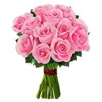 1 Dozen Pink Roses Bouquet - $14.99