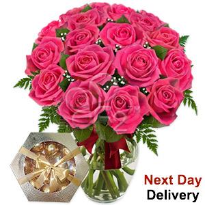 Dreamland - 18 Pink Roses