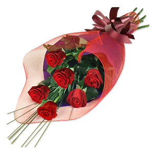 This Bouquet Of Red Roses Wrapped Elegantly In A Cone Will Add Spice To Your Relationship.