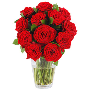 This is a simple traditional rose bouquet to give to someone special. It contains a dozen red roses and comes gift wrapped. #gift