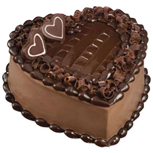 Heart Shape Chocolate Cake 1 kg