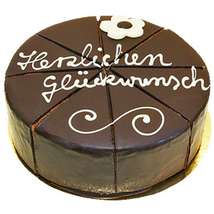 Dessert Sacher cake -Congratulations, 500 gms ShopFest Money Saver