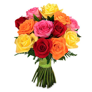 1 Dozen Mixed Roses Bouquet ShopFest Money Saver