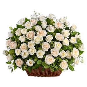Image of White Beauty Sympathy Basket