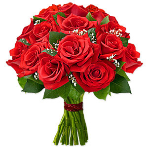 Luxurious And Alluring, This Extravagant Collection Of Fresh Ruby Red Roses Will Drive Them Wild. Approximately 14 Inches W X 16 Inches H