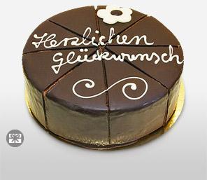 Dessert Sacher cake -Congratulations, 500 gms