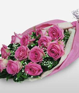 Glory - One Dozen Pink Roses