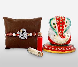 Lord Ganesha Rakhi Combo