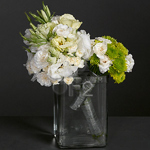 Pocket of posies, White