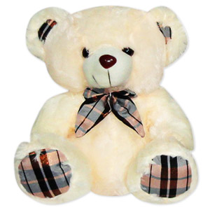 Bear with Checkered Scarf
