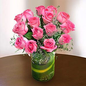 Send flowers to india international flower delivery irresistible pink roses mightylinksfo